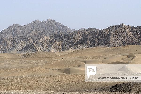 Sanddünen in der Wüste Gobi  Seidenstraße  Dunhuang  Gansu  China  Asien