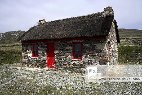 Steinhaus  Knockmore  Achill  County Mayo  Irland  Europa