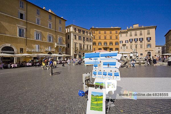 Piazza Navona  Rom  Italien  Europa