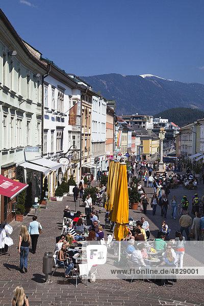 Hauptplatz  Fußgängerzone  Villach  Kärnten  Österreich  Europa