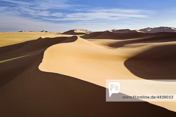 Sanddünen der libyschen Wüste  Erg Murzuk  Libyen  Sahara  Nordafrika  Afrika Sanddünen der libyschen Wüste, Erg Murzuk, Libyen, Sahara, Nordafrika, Afrika
