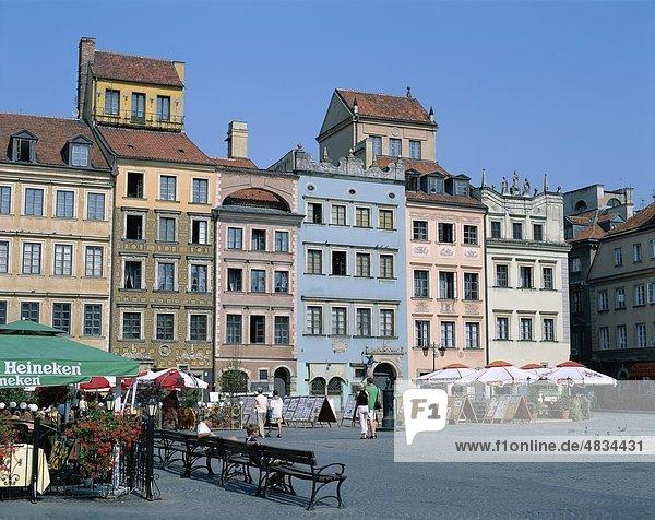 Urlaub  Landmark  Old Town Square  Polen  Europe  Stare Miasto  Tourismus  Reisen  Ferienhäuser  Warschau