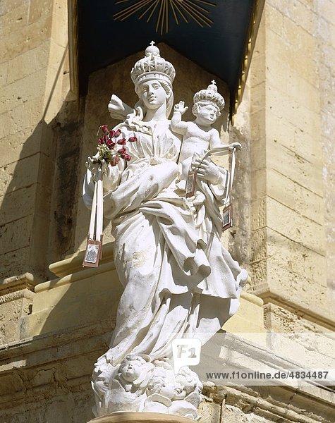 Karmelit Kirche  Urlaub  Landmark  Madonna  Malta  Mdina  Statue  Tourismus  Reisen  Urlaub