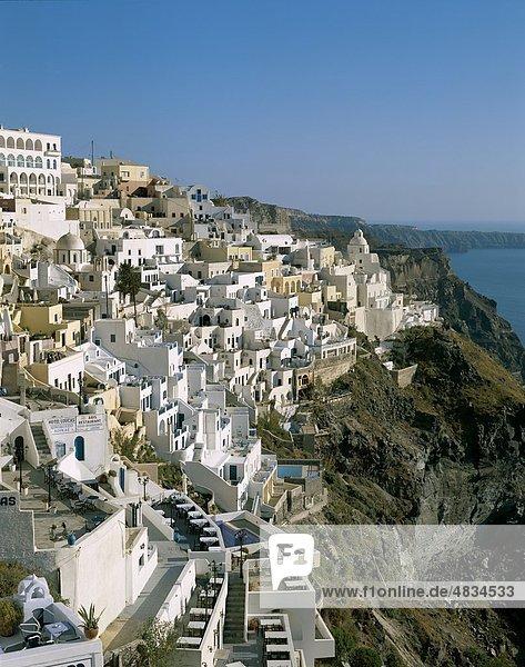 Cyclades  Fira  Greece  Europe  Holiday  Islands  Landmark  Santorini  Thira  Tourism  Travel  Vacation