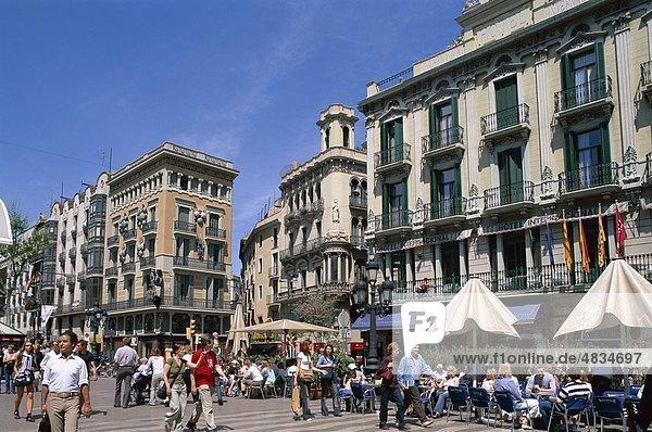 Barcelona  Katalonien  Urlaub  Landmark  Las  Outdoor Cafés  Ramblas  Spanien  Europa  Tourismus  Reisen  Urlaub