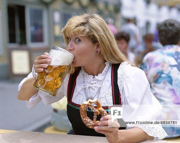 Bavaria  Bavarian  Beer  Costume  Drinking  Eating  Festival  Germany  Europe  Holiday  July  Landmark  Mittenwald  Model  Pretz