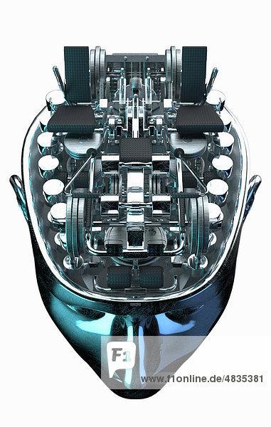 Fitnessstudio im Gehirn eines Roboters