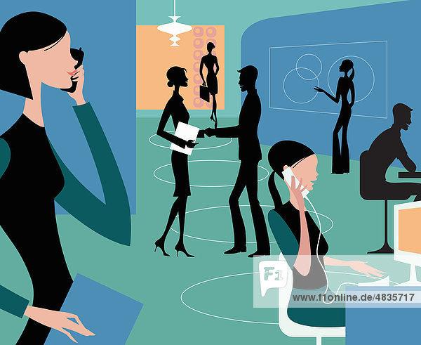 Beschäftigte Geschäftsleute im Büro