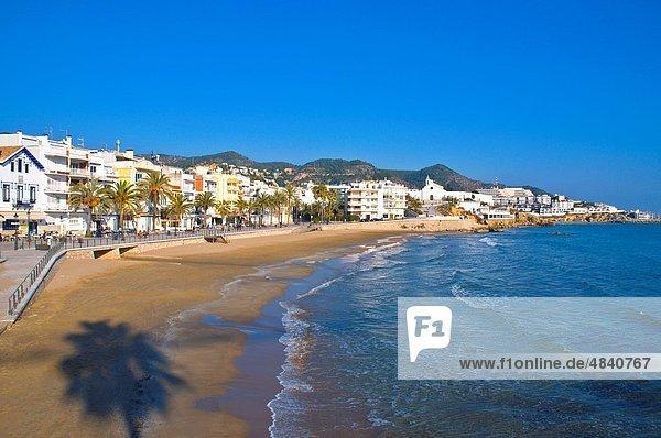 Europa Strand Kirche Sitges Spanien