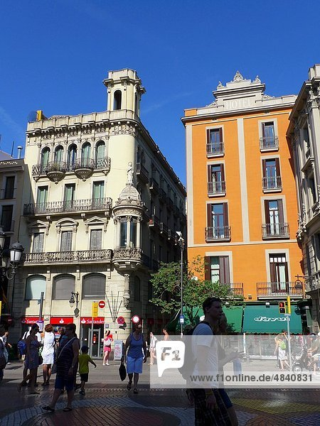 Barcelona  Rambla  Spanien