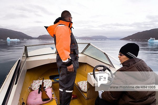 Husband and wife seal hunters  South Greenland