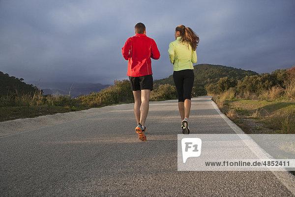 Ländliches Motiv  ländliche Motive  Tischset  joggen  jung