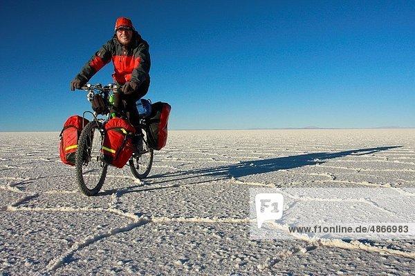 radfahren  See  sprechen  Bolivien  gefroren  Speisesalz  Salz