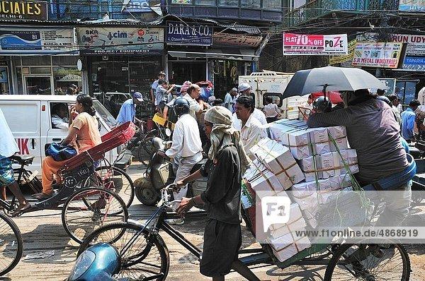 Delhi  Hauptstadt  Mann  Straße  beschäftigt  alt
