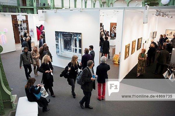 Paris  France  Contemporary Art Exhibit  FIAC  Grand Palais FIAC Arts SHow