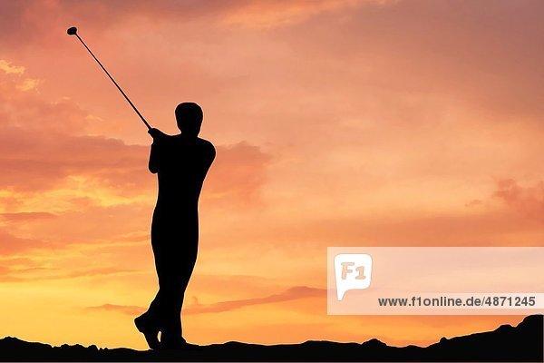 Sonnenaufgang  Golfsport  Golf  Kurs