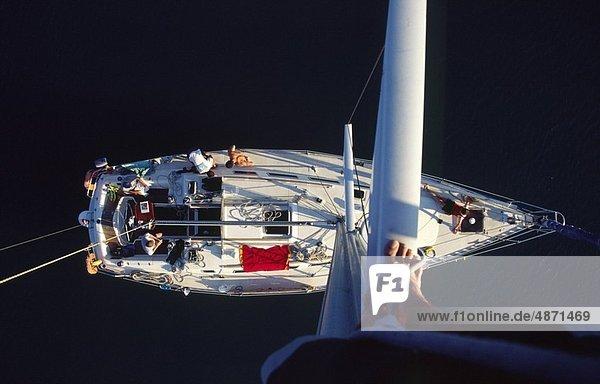 Segeln  Boot  hoch  oben  Ansicht