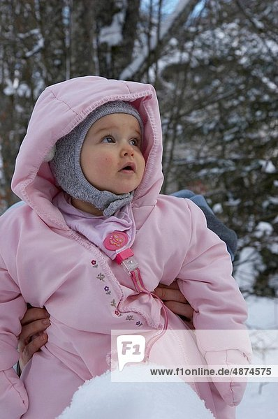 baby with winter clothes