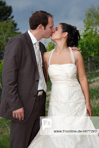 Braut  küssen