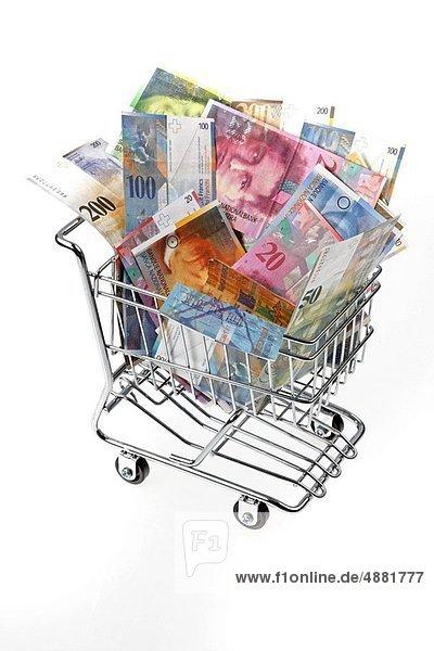 Fuhrwerk  kaufen  Geldschein  Währung  schweizerisch