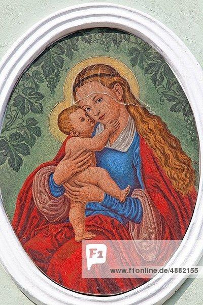 Jungfrau Maria Madonna Fotografie Hauswand