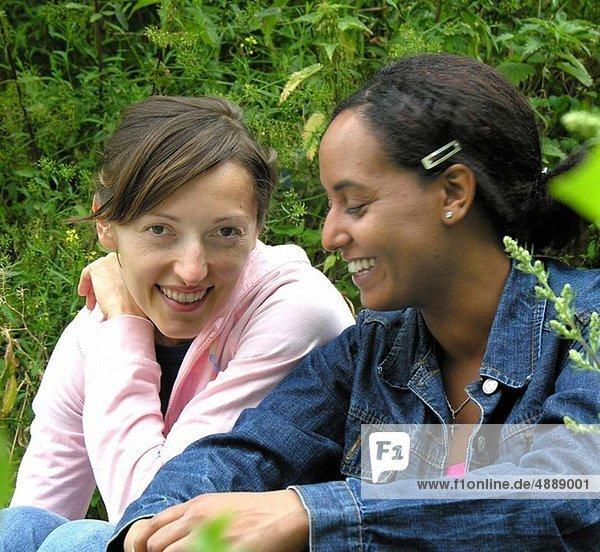 Friends in conversation
