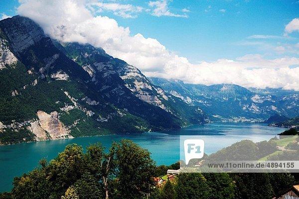 Walensee in eastern Switzerland