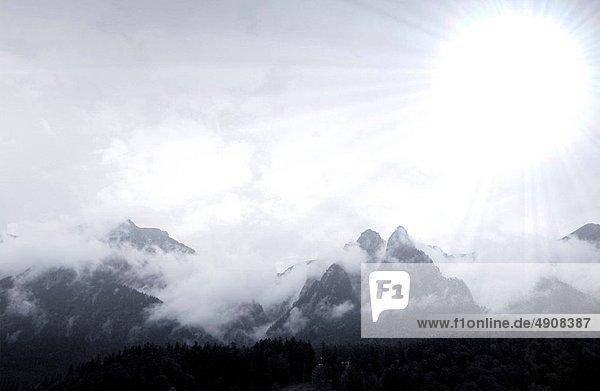 Berg  Landschaft  Nebel