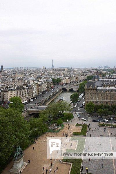 Paris  Hauptstadt  Großstadt  Turm  Ansicht