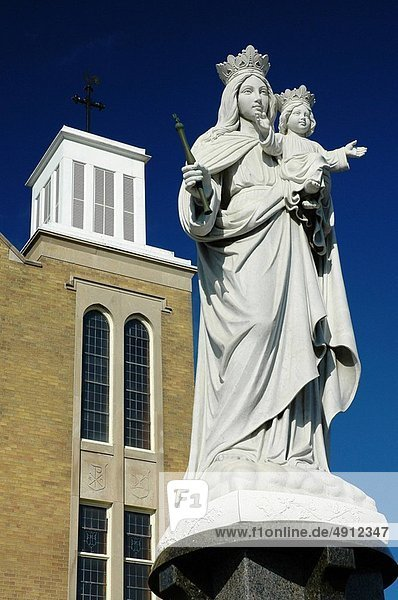 halten  weiß  Statue  Jesus Christus  Jungfrau Maria  Madonna