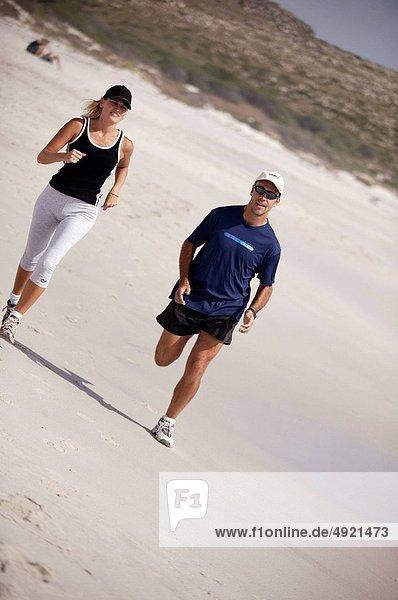 Strand  rennen  Athlet