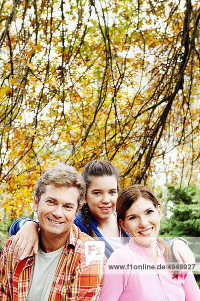 Familie bei einem Picknick