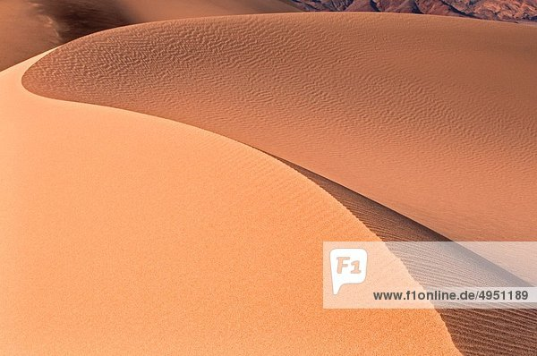nahe Nationalpark Sonnenaufgang Dorf Sand Death Valley Nationalpark flach Düne Kalifornien