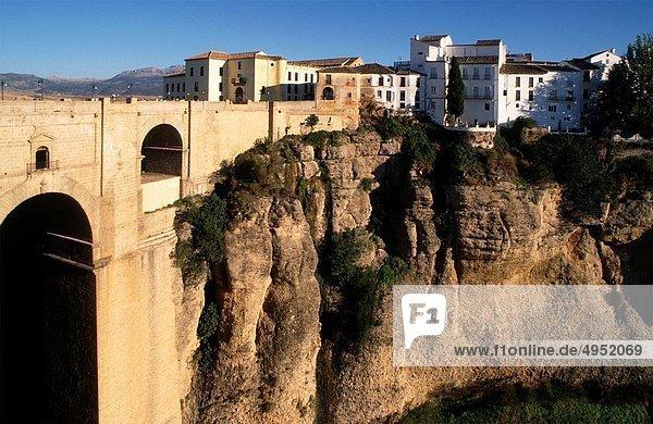 Weitwinkel  Brücke  Andalusien  Ronda  Spanien