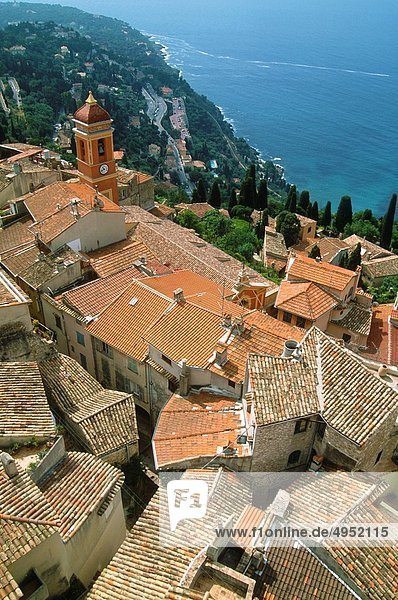 France  Cote d´Azur  Roquebrune  general aerial view