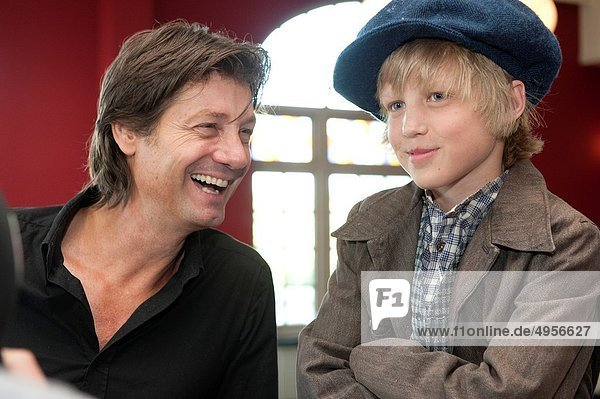 Kaatsheuvel  Netherlands. The new lead actor for the Dutch musical: 'Kruimeltje'  the eleven year old Joes  is introduced to the media in the summer of 2010.
