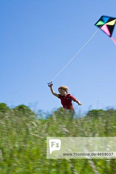 Boy mit kite