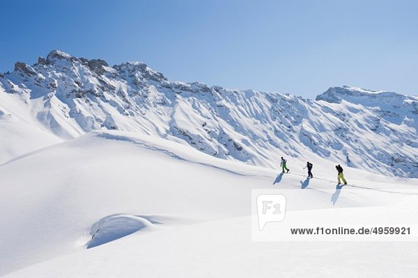 Italien  Trentino-Südtirol  Südtirol  Bozen  Seiser Alm  Skitourengruppe