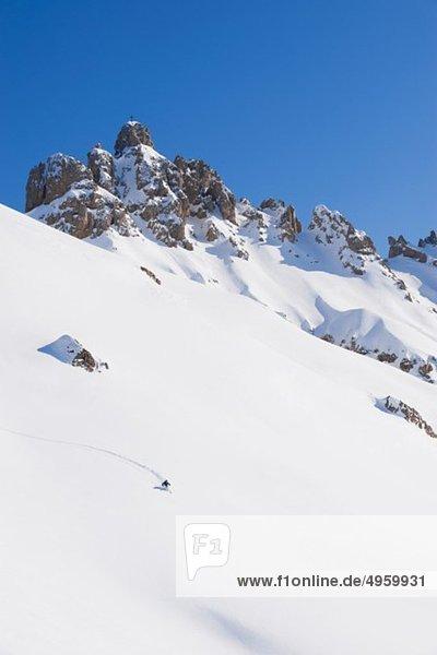 Italien  Trentino-Südtirol  Südtirol  Bozen  Seiser Alm  Mittelalterliche Skitouren am Berg