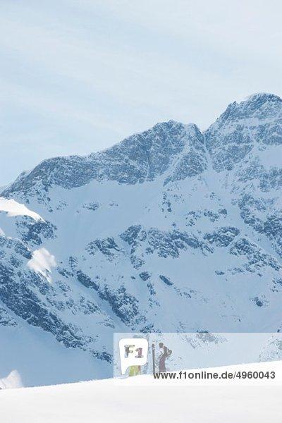 Österreich  Kleinwalsertal  Paarskifahren