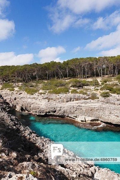 Spanien  Balearen  Mallorca  Santany__  Blick auf das Naturschutzgebiet Mondrago