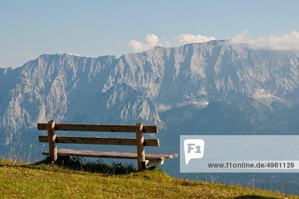 Deutschland  Bayern  Garmisch-Partenkirchen  Blick von Wank auf Wetterstein Deutschland, Bayern, Garmisch-Partenkirchen, Blick von Wank auf Wetterstein