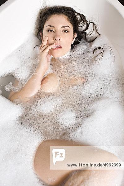 Beauty woman in bathtub