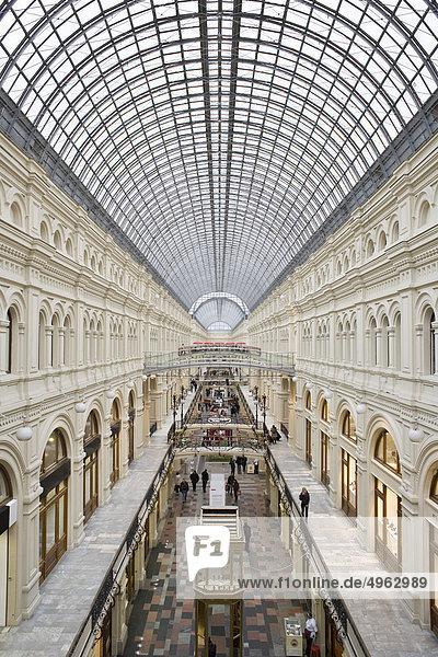 Innerhalb von GUM Kaufhaus,  Moskau,  Russland