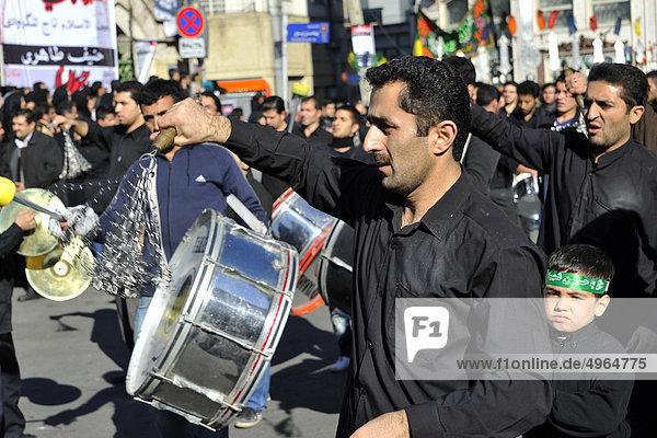 Iran  Teheran  Celebration of Ashura which Commemorates the Death of the Prophet Hosein