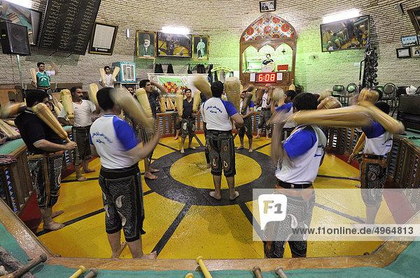 Iran  Yazd  Gym Varzesh Bastani  a Discipline of Gymnastics and Traditional Wrestling of Persia