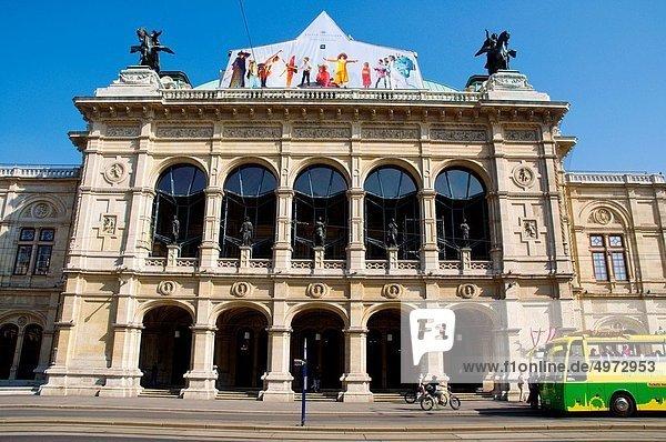 Wien Hauptstadt Opernhaus Oper Opern Europa vorwärts Mittelpunkt Österreich Wiener Würstchen