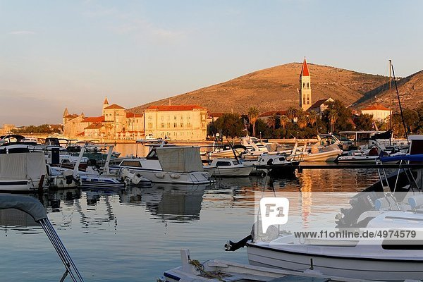 Trogir at sunrise  UNESCO  Dalmatia  Croatia  Europe