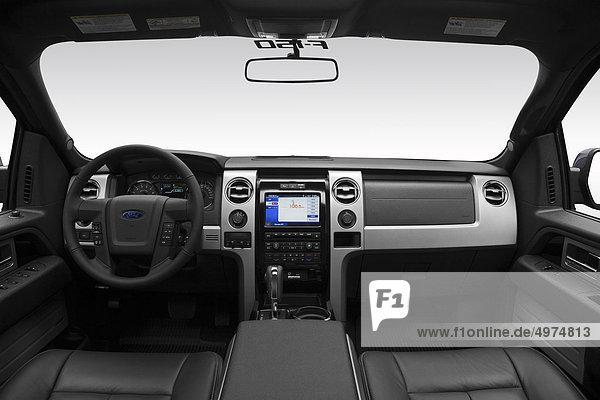 grau Lenkrad Mittelkonsole Armaturenbrett Ford