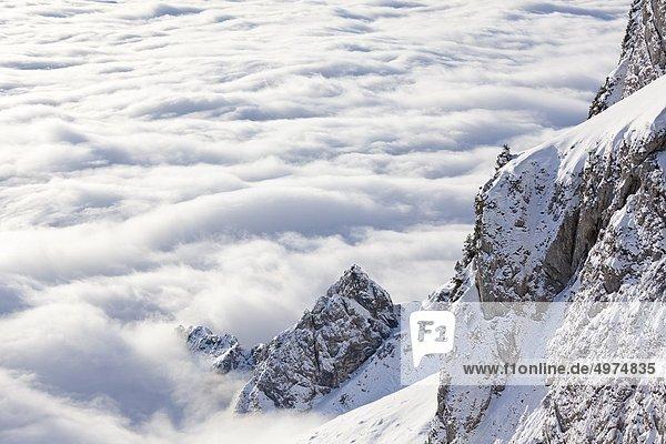 Blick hinunter vom Untersberg  Berchtesgadener Alpen Blick hinunter vom Untersberg, Berchtesgadener Alpen